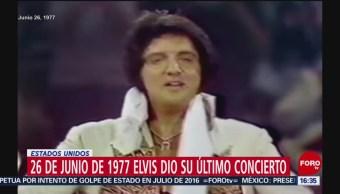 Foto: El último concierto de Elvis Presley