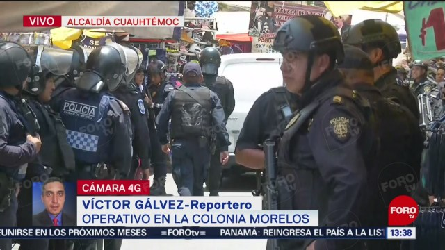 FOTO: Elementos policíacos realizan operativo en Tepito