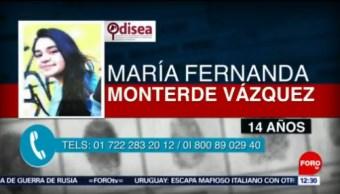 Emiten alerta Odisea por María Fernanda Monterde Vázquez
