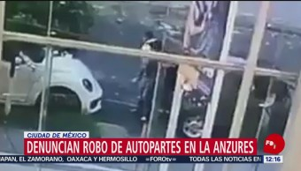 FOTO: En video captan robo de autopartes en la colonia Anzures, CDMX