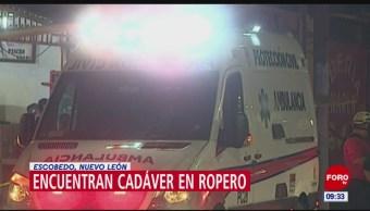 Encuentran cadáver de mujer dentro de ropero en Nuevo Léon