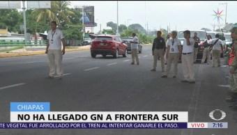 Esperan despliegue de Guardia Nacional en Chiapas