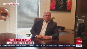 Estamos al tanto del enfrentamiento en Tlajomulco de Zúñiga, dice gobernador de Jalisco