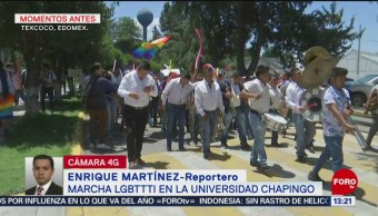 FOTO: Estudiantes de la Universidad de Chapingo realizan marcha LGBTTTI