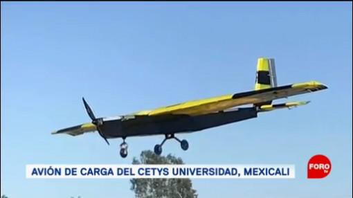 FOTO: Estudiantes de Mexicali desarrollan un avión de carga, 16 Junio 2019