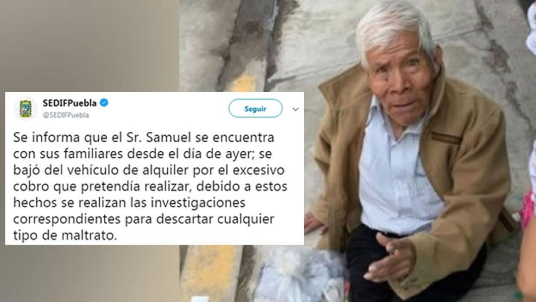 foto Fake News: Abandonan a abuelito en calle de Puebla 18 junio 2019
