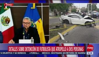 FOTO. Fiscalía de Jalisco da detalles del choque del futbolista Joao Maleck