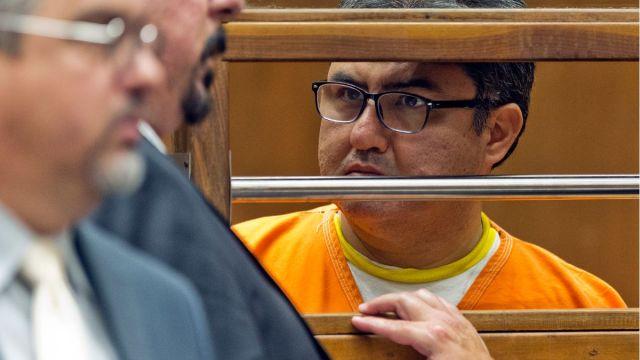 Foto: Naasón Joaquín García, líder de la iglesia La Luz del Mundo, durante audiencia en un tribunal de Los Ángeles, EEUU. El 21 de junio de 2019