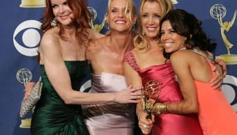 """Foto: Actrices de """"Desperate Housewives"""" Marcia Cross, Nicollette Sheridan, Felicity Huffman y Eva Longoria. El 18 de septiembre de 2005"""