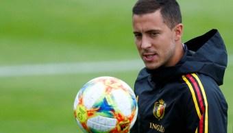 Foto: Eden Hazard entrena con la selección de Bélgica. El 7 de junio de 2019