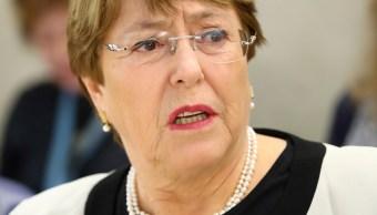 Foto: Michelle Bachelet, alta comisionada de DDHH de la ONU. El 6 de marzo de 2019