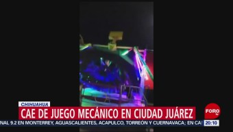 Foto: Mujer Accidentada Juego Mecánico Chihuahua 17 Junio 2019