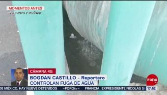 FOTO. Fuga de agua potable en Viaducto y Bolívar