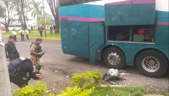 Foto: explota granada en un autobús en Uruapan, 17 de junio 2019. (Noticieros Televisa)