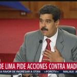 FOTO: Grupo de Lima pide acciones contra Maduro