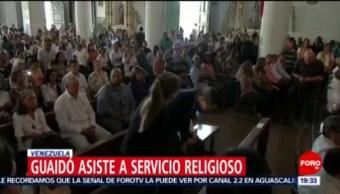 FOTO: Guaidó asiste a misa en su ciudad natal de la Guaira, 29 Junio 2019