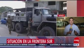 Foto: Guardia Nacional INM Frontera Sur Chiapas 17 Junio 2019