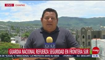 FOTO: Guardia Nacional refuerza seguridad en frontera sur, 23 Junio 2019