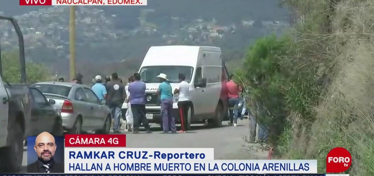 Hallan a hombre muerto en Naucalpan, Estado de México