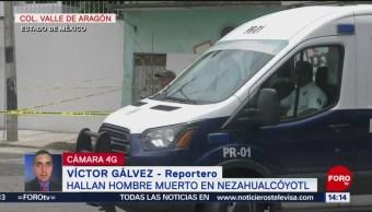 Foto: Hallan hombre muerto en Nezahualcóyotl