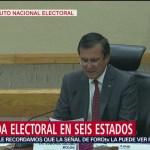FOTO: INE da reporte de jornada electoral del 2 de junio de 2019, 2 Junio 2019
