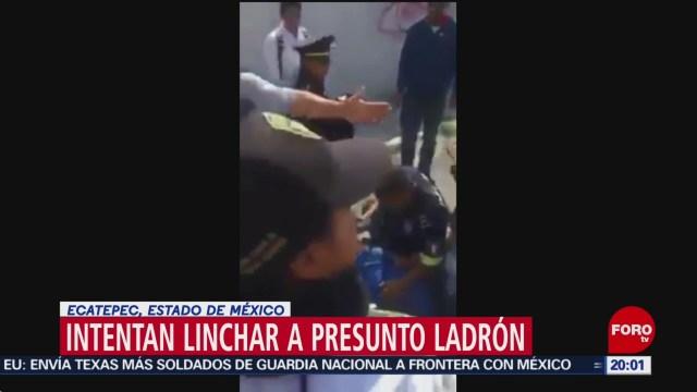 FOTO: Intentan linchar a ladrón en Ecatepec, Edomex, 22 Junio 2019