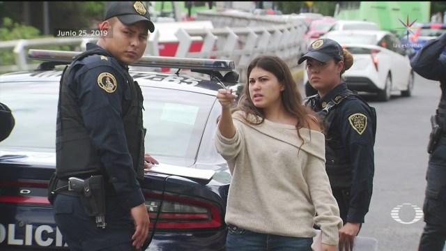 Foto: Policías Abuso Policial Viaducto CDMX 26 Junio 2019