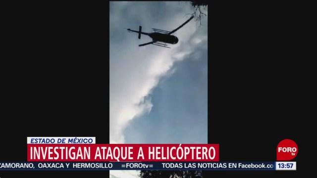 Foto: Investigan ataque contra helicóptero en Edomex