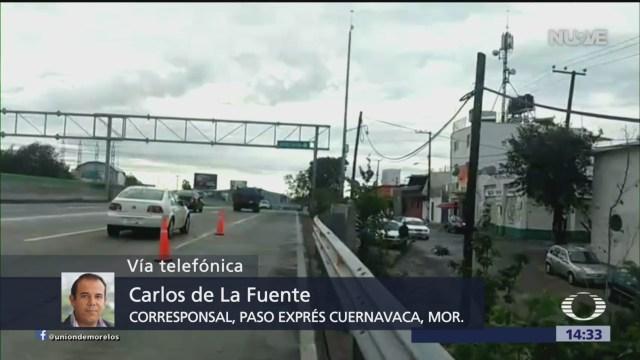 FOTO: Investigan formación de grieta en el Paso Express