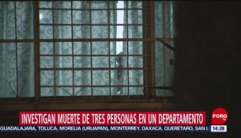 FOTO: Investigan muerte de 3 personas en departamento de Tlatelolco, 29 Junio 2019