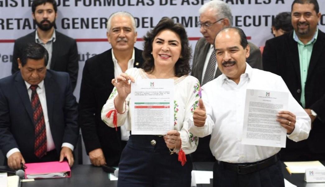 Foto: Entregaron documentación, 7 fórmulas, entre ellos, Ivonne Ortega, ex gobernadora de Yucatán, el 22 de junio de 2019 (Twitter @PRI_Nacional)