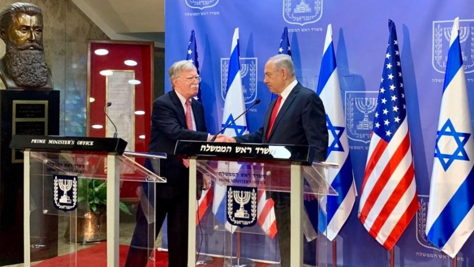 Foto: El asesor de Seguridad Nacional de EU, John Bolton, se reunió con el primer ministro israelí, Benjamín Netanyahu, 23 junio 2019