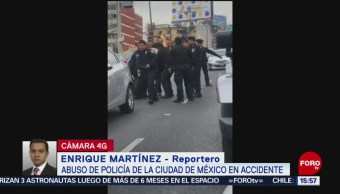 FOTO: Joven denuncia abuso policiaco tras choque en la CDMX