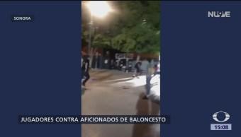 Foto: Jugadores de basquetbol agreden a aficionados en Hermosillo