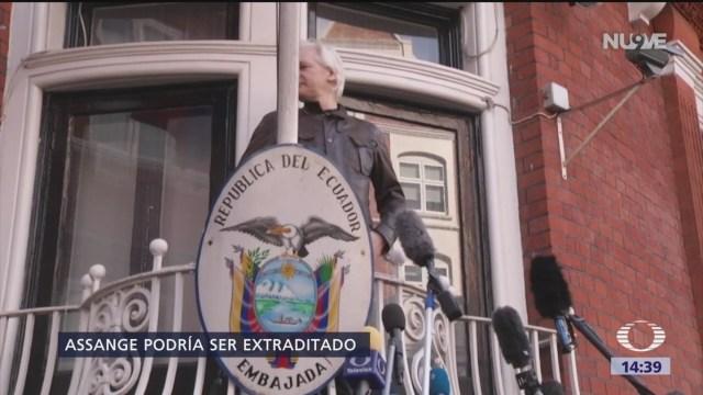 Foto: Julian Assange podría ser extraditado a EU en las próximas horas