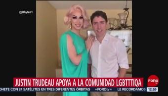Justin Trudeau apoya a comunidad lésbico gay