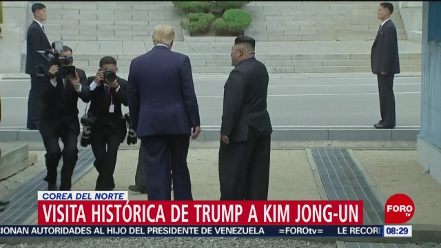 FOTO: Kim Jong Un y Trump se reúnen en Corea del Norte, 30 Junio 2019
