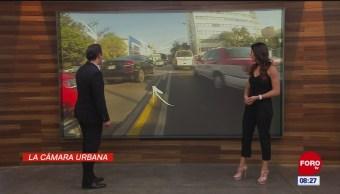 #LaCámaraUrbana en Expreso: Autos conducen sobre carril de metrobús