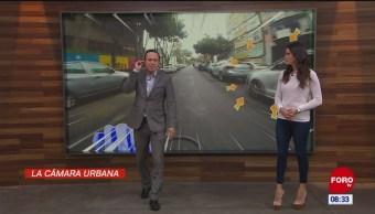 #LaCámaraUrbana en Expreso: Fila de coches mal estacionados