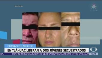 Liberan a dos jóvenes secuestrados en Tláhuac
