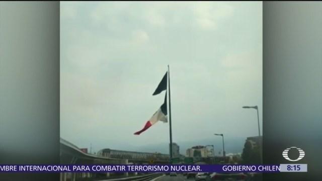 Lluvias en CDMX desgarran bandera monumental de San Jerónimo