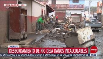 FOTO: Lodo en San Gabriel, Jalisco, es tierra, agua y cenizas