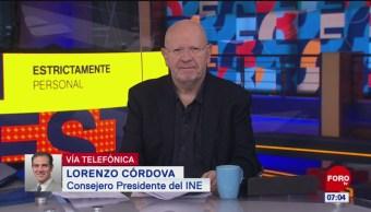 Lorenzo Córdova: Se tienen que plantear bien los cambios de la reforma electoral