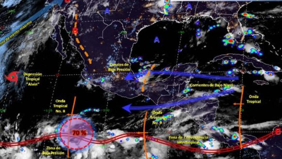 Foto: Imagen de fenómenos meteorológicos significativos de las 06:00 horas, 29 junio