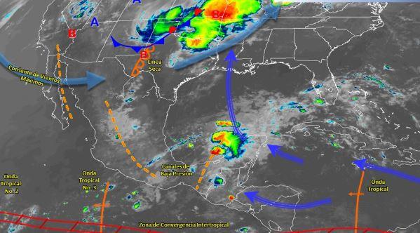 Foto:Imagen de fenómenos meteorológicos significativos de las 06:00 horas, 16 junio 2019