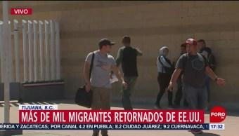 Foto: Más de mil migrantes, retornados a México de EU