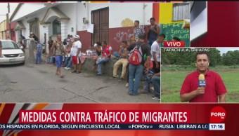 Foto: Medidas contra el tráfico de migrantes en Chiapas
