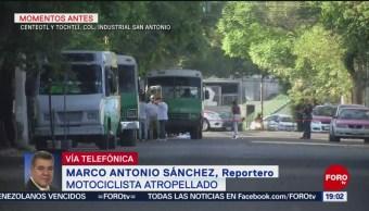 Foto: Microbús Atropella Motociclista Azcapotzalco CDMX 9 Junio 2019