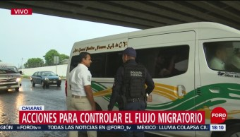 Foto: Migrantes Retenes Autopistas Chiapas 14 Junio 2019
