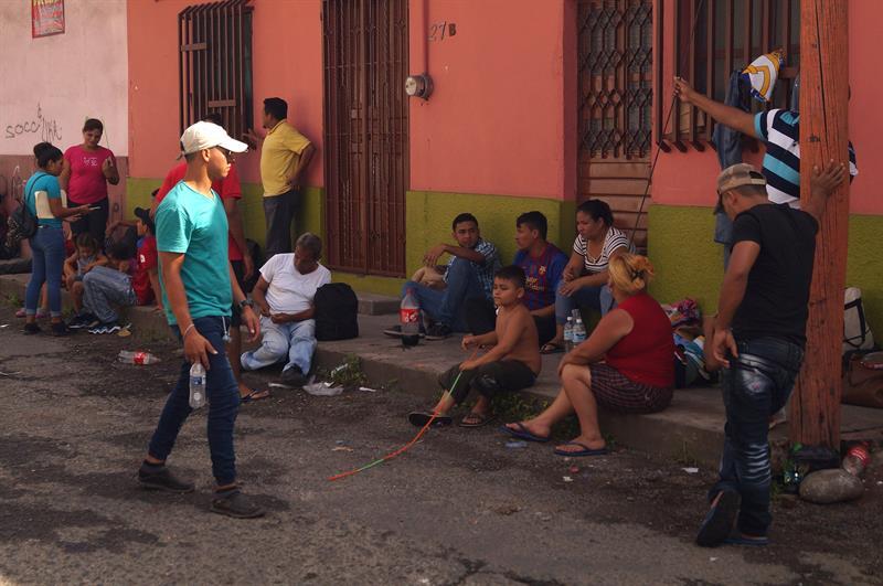 Foto: migrantes en Chiapas, 25 de junio 2019. EFE